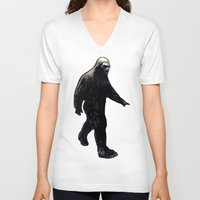 bigfoot V-neck T-shirts featuring Bigfoot by Zombie Rust