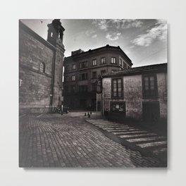 Santiago Back Streets Metal Print