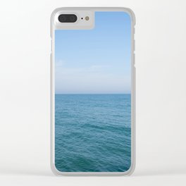 Floating to Blue Clear iPhone Case