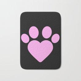 Cute Heart Paw Kawaii Print print Funny Love Gift Bath Mat