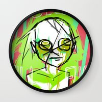 dramatical murder Wall Clocks featuring MURDER by ASHES