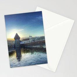 Sunset over Lake Lucerne Stationery Cards