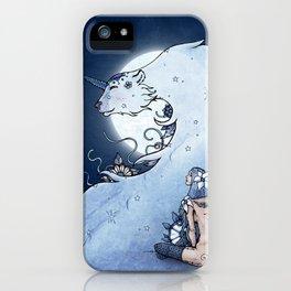 Mia & The Unicorn Bear iPhone Case