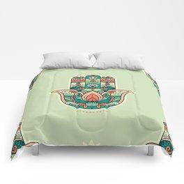 Hamsa Hand Pattern Comforters