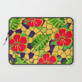 Floral Pattern 01 Red Laptop Sleeve