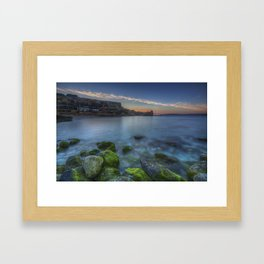 Sunset at Paradise Bay Malta Framed Art Print