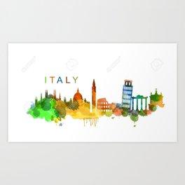 italy city Art Print