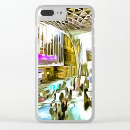 Kings Cross Station London Pop Art Clear iPhone Case