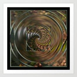 Flower to infinity mandala Art Print