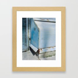 Blue Street Abstract 2 Framed Art Print