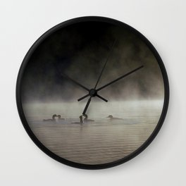 circle of loons Wall Clock
