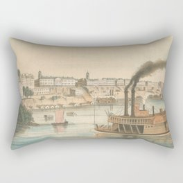 Vintage Pictorial View of Memphis TN (1854) Rectangular Pillow