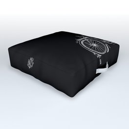 1919 Motorcycle Patent Black White Outdoor Floor Cushion