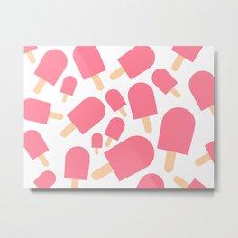 Pink Popsicles Metal Print