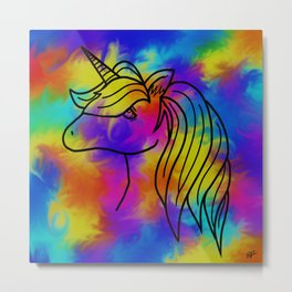 Unicorn Madness Metal Print