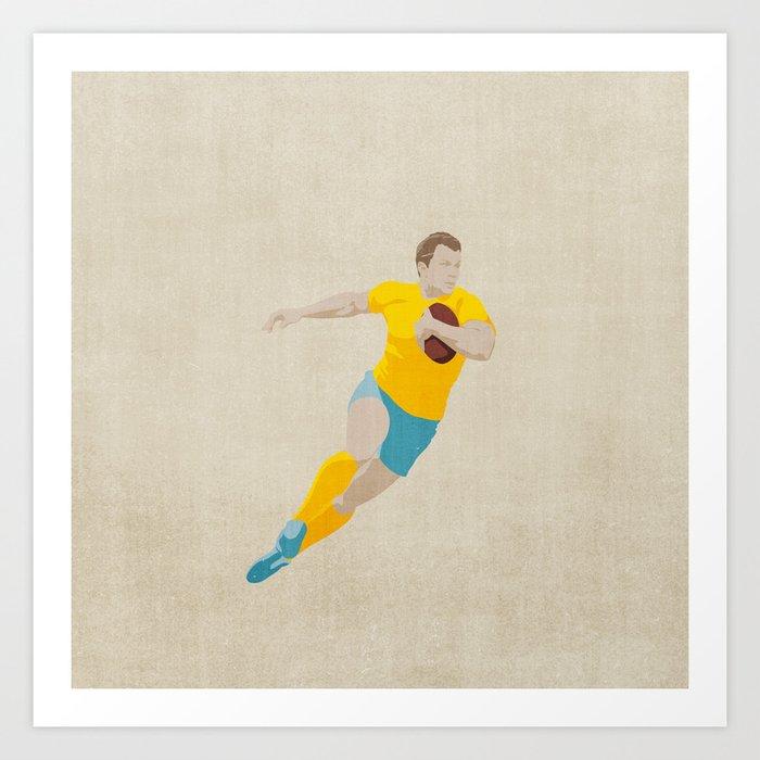 SUMMER GAMES / Rugby Art Print