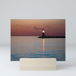 Lighthouse at the Blue Hour Mini Art Print