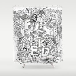 Fucked ( All Over ) Jx3 T-Shirt Shower Curtain