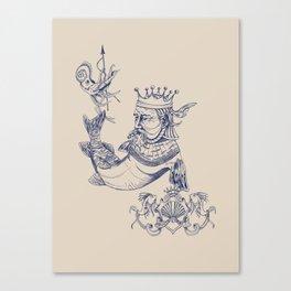 Sea Posse IV - King, Navy Print Canvas Print