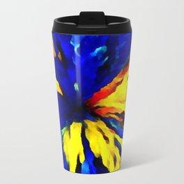 blue yellow Travel Mug