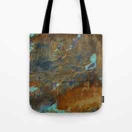 Blue Lagoons in Rusty World Tote Bag
