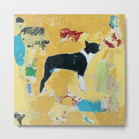 Boston Terrier Painting Art Metal Print