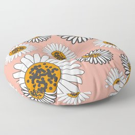 Daffodils in coral pink Floor Pillow