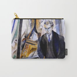 """Robert Delaunay """"Le Poète Philippe Soupault"""" Carry-All Pouch"""