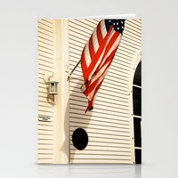 american flag Stationery Cards featuring American Flag by Agent Cake