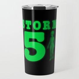 Storm Area 51 Bright Neon Green Alien Travel Mug
