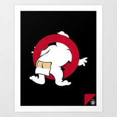 Ain't afraid of no cold! Art Print