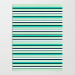 Mint stripes Poster