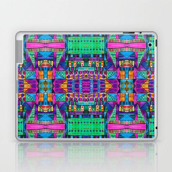 Tribal Patchwork II Pink Laptop & iPad Skin