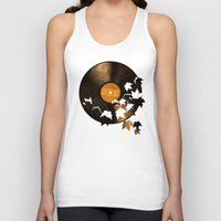 autumn Tank Tops featuring Autumn Song - colour option by Terry Fan