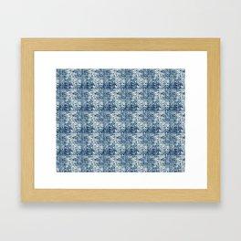 Grungy Teal Circles Framed Art Print