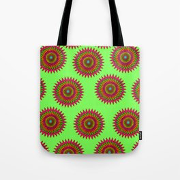 RED AND GREEN FESTIVE KALEIDOSCOPE Tote Bag