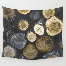 Stacked wood Wall Tapestry