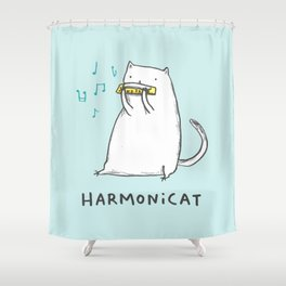 Harmonicat Shower Curtain