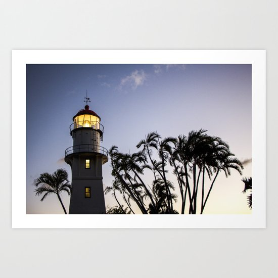 Oahu Lighthouse Art Print