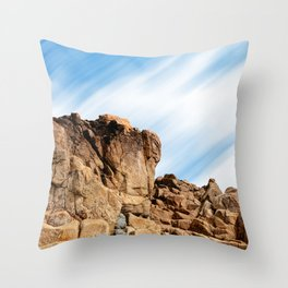 Rocky landscape in the coast of Brittany II Throw Pillow