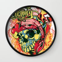 pirate Wall Clocks featuring Pirate by Tshirt-Factory