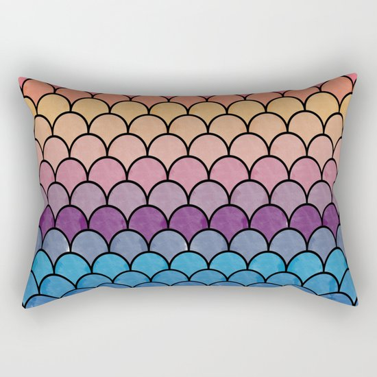 Watercolor Lovely Pattern CI Rectangular Pillow