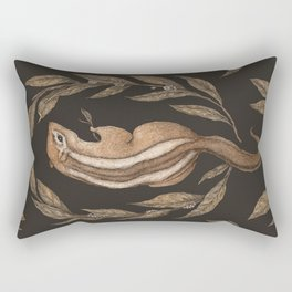 The Chipmunk and Bay Laurel Rectangular Pillow