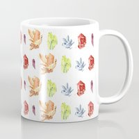 crystals Mugs featuring crystals by impalei