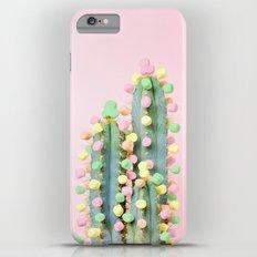 Marshmallow Cactus in Bloom Slim Case iPhone 6s Plus