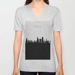 City Skylines: Chicago Unisex V-Neck