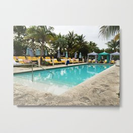 pool side miami Metal Print