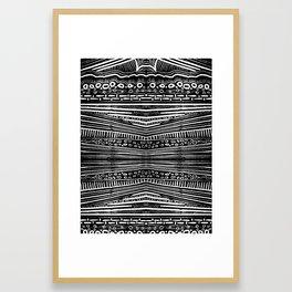 Linocut Tribal Pattern Framed Art Print