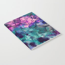 Inky Watercolor Paint Splash Notebook