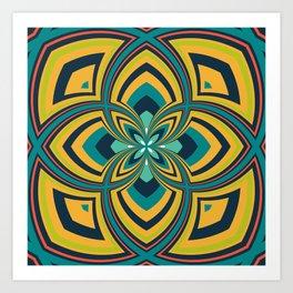 Spiral Rose Pattern B 4/4 Art Print